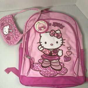 Hello Kitty Pink Leopard Backpack & Mini Purse Set